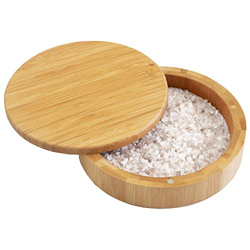 Totally Bamboo Barkeeper's Salt Box, Bamboo Storage Box with Magnetic...