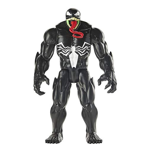 Spider-Man Maximum Venom Titan Hero Venom Action Figure, Inspired by The Marvel Universe, Blast Gear-Compatible Back Port, Ages 4 and Up