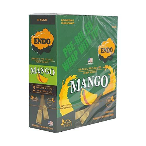 15PK Display – Endo Pre-Rolled Hemp Wraps – Mango