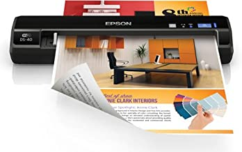 Epson WorkForce DS-40 Wireless Portable Document Scanner for PC and Mac, Sheet-fed, Mobile/Portable