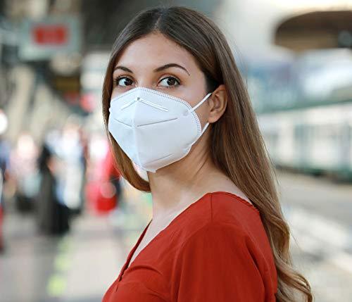Premium Mundschutz Atemschutzmasken zertifizierte FFP2 Masken Infektionsschutz Gesichtsmaske Staubschutz Schutzmaske (20 Stück) - 3