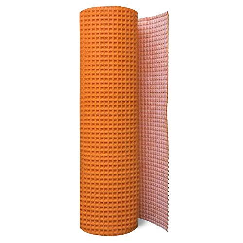 Uncoupling Membrane 1/8 inch Thick, 3.3 ft x 45.9 ft / 150 Square Feet, Uncoupling Membrane for Under Tile, Tile Underlayment Mat, Waterproofing, Anti-Fracture and Crack Isolation Membrane
