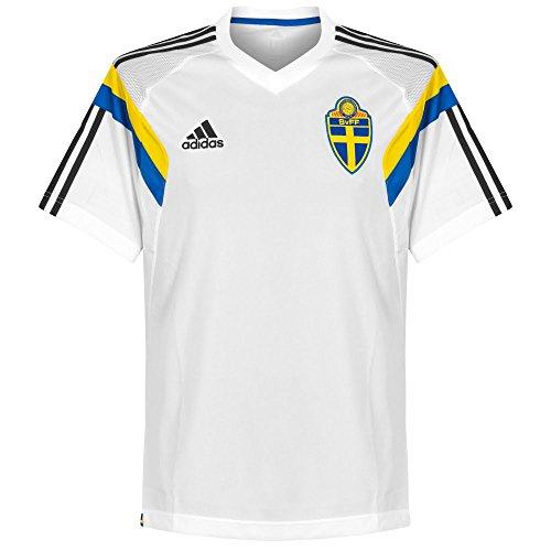 adidas Camiseta Suecia 2013/14Entrenamiento White Weiß L