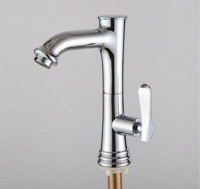 Retro Deluxe baño FaucetingTall Grifo canilla, solo agua fría Swival 360 grados