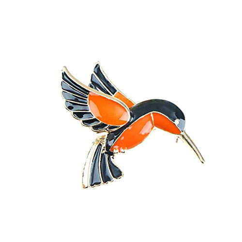 GDYX Broche Joyas de Animales Naturales Pin Pin Abeja Libélula Insecto Loro Pájaro Escarabajo Pin Mujeres Ropa Pin Pin Regalo10