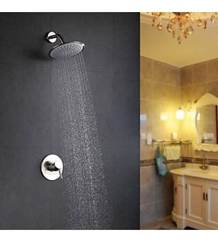 Grifo de ducha de pared moderno cromado