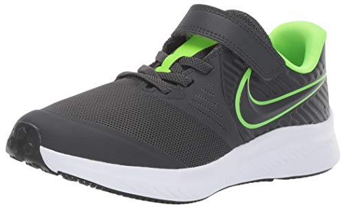 Nike Star Runner 2 (PSV) Laufschuh, Grau Anthracite Electric Green White 004, 35 EU