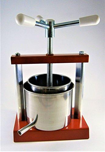 Käsepresse 1,8 Liter und Presskorb 1,4 L (Käseform) - Obstpresse, Weinpresse, Saftpresse, Fruchtpresse - Hergestellt in Italien