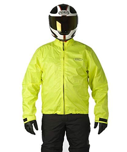 Motorrad Regenjacke fluorgelb Gr. 3XL