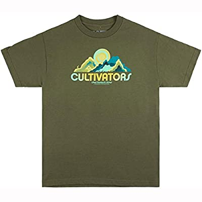 LRG Cultivators Men's T-Shirt, Military Green, X-Large