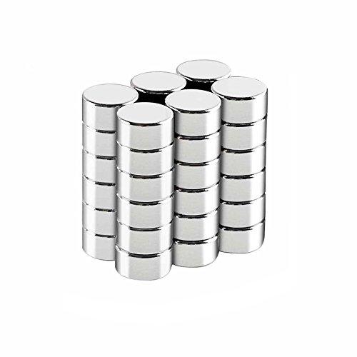 Amoboo Neodymium Magneten, 36 Stks Zeldzame Aarde Magneten Ideaal voor Koelkast, Magnetische Oppervlakken, Interactieve Whiteboard 8mm x 2mm