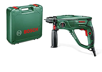 Bosch PBH 2100 RE - Martillo perforador con maletín (tope de profundidad, empuñadura adicional, 550 W)