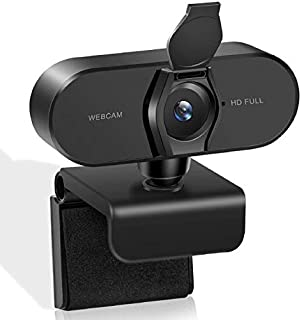 Webcam with Microphone and Privacy Cover WETONG 1080P HD USB 2.0 Desktop Laptop PC Web Camera for Computer,Noisy Reducing ...