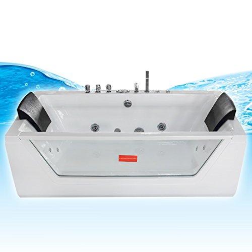 AcquaVapore Whirlpool Pool Badewanne Wanne A1813NA mit Reinigungsfunktion 90×185, Selfclean:aktive Schlauch-Reinigung +70.-EUR - 2