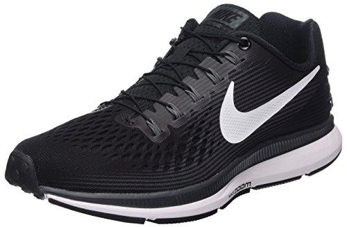 Nike W AIR Zoom Pegasus 34 FLYEASE, Chaussures de Running Femme, Noir (Noir/Anthracite/Grisfoncé/Blanc), 38 EU