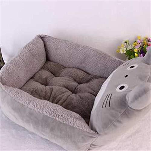 Stich Chinchilla Braunbär Cartoon-Stil Haustier Katze Hund Bett Warme Katze Nest Haustier Bett Hund Matratze Haustierbedarf Hundehäusche Luxusbett ( Color : My Neighbor Totoro , Size : 65x50x25cm )