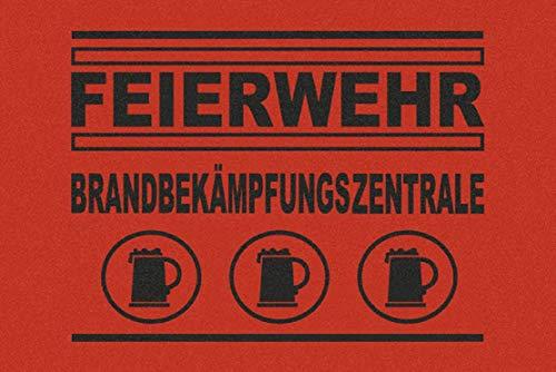 Fussmatte Feierwehr Brandbekämpfungszentrale Feuerwehr Fun Türmatte Fußmatte Schmutzmatte Schmutzfangmatte Fussabstreifer