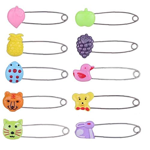 TOSSPER 4pcs del Pannolino del Bambino di Sicurezza Pannolini Pin Clip della Serratura Fibbia Baby Shower Clip