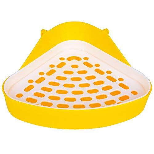 FANDE 1PCS Toilette Hamster Kleintier Dreieck Toilette,Haustiertoilette für Kleintiere,für Kleintiere, Hamster, Chinchilla, Meerschweinchen, Kaninchen, Frettchen.