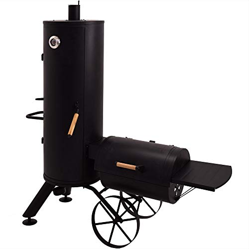 Syntrox Germany Smoker Leptobos 2 Barbecue BBQ Grill Räucherofen Holzkohlegrill Grillwagen