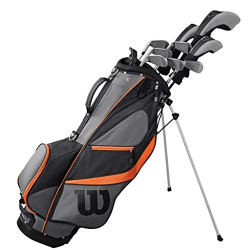 WILSON Golf 2019 Herren X31 Complete Steel Shaft Package Set Stand Bag - LH Steel Stand Bag Black/Grey/Orange