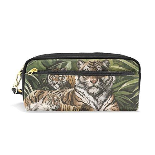 BENNIGIRY Art Tiger - Estuche escolar para lápices, bolígrafos, bolígrafos, cosméticos, bolsa de maquillaje para mujeres y niñas, bolsa de papelería duradera de gran capacidad