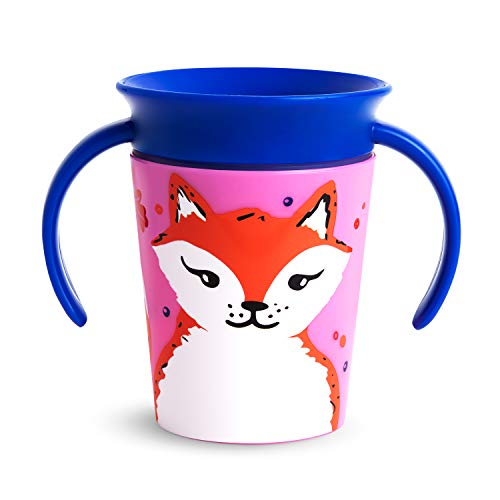 Munchkin Miracle 360 WildLove Trainer Sippy Cup, 6 Oz, Red Fox