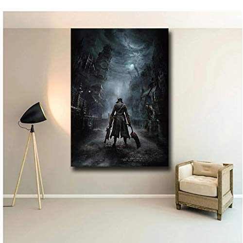 yhyxll Top Games The Poster Decoration Painting of On HD Canvas Canvas Painting Art Posters Impresiones Pintura Pictures-50X75Cm Sin Marco