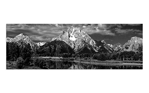 KD Dsign+ glasschilderij BILD AG39000267 motief BAVARIA BERG zwart afmeting 90 x 30 cm incl. ophangsysteem (plakplaat)