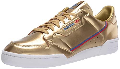 adidas Originals Herren Continental 80 Turnschuh, Gold Metallic Gold Metallic Crystal White, 45 1/3 EU
