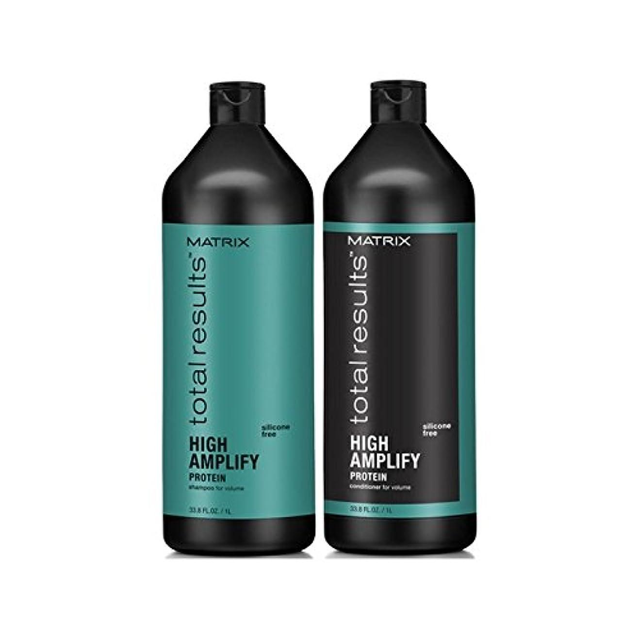 アルミニウム推定不承認マトリックスの合計結果は、高いシャンプーとコンディショナー(千ミリリットル)を増幅します x4 - Matrix Total Results High Amplify Shampoo And Conditioner (1000ml) (Pack of 4) [並行輸入品]