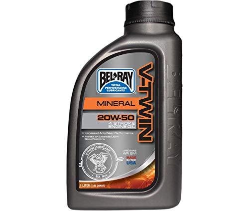 Compatible con: repuesto para aceite mineral V-TWIN 4 tiempos, 1 litro 20W50 BEL RAY-96905-BT1.