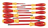 Wiha 32093 Slotted and Phillips Insulated Screwdriver Set, 1000 Volt, 10 Piece