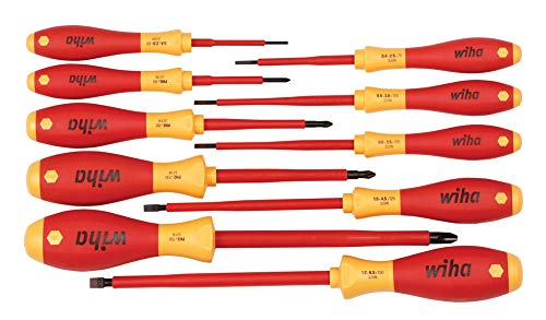 Insulated Slotted/Phillips Screwdrivers 10 Piece Set