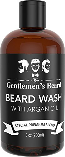 Beard Wash Shampoo with Argan Oil - Aids Growth...