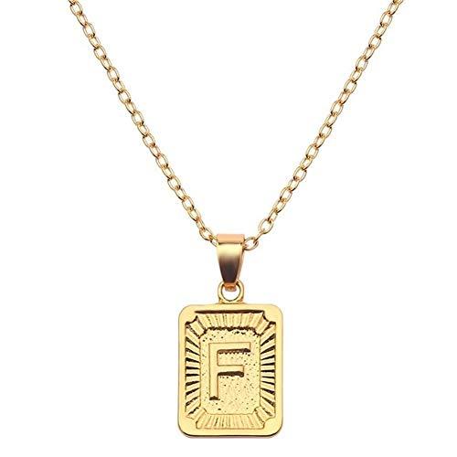 Accesorios Collar for Regalos de Oro de Las Mujeres del Color del Nombre del Alfabeto de los Collares de los Mejores Amigos de cumpleaños Regalo (Color : 50cm, Size : F)