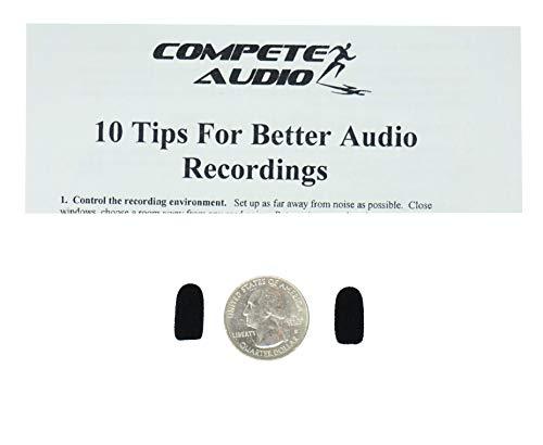 Konkurrieren Audio cm212Mini Lavalier (Tiny.) Mikrofon Windschutzscheibe, Doppelpack für Headset/Revers Mikrofone