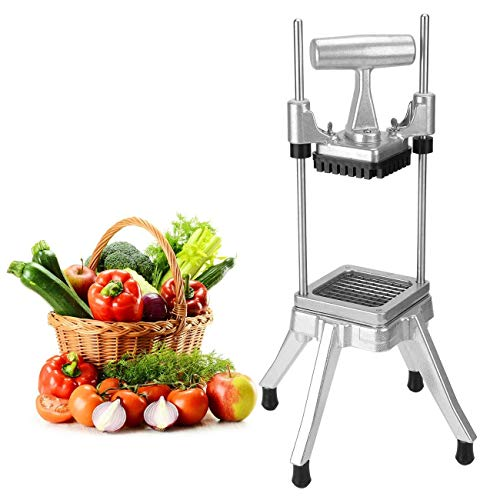 """WICHEMI Commercial Vegetable Chopper Dicer Onion Chopper Dicer Cutter Heavy Duty Stainless Steel Chopper for Fruit Peppers Potatoes Mushrooms French Fry (1/4"""" Blade)"""