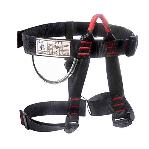 TRIWONDER Arnés de Escalada Proteger Cinturones de Seguridad para Escalada de Rock Montañismo Alpinismo Expedición (Negro)