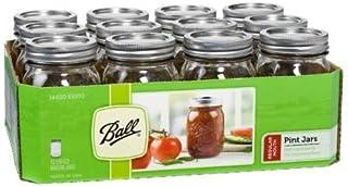 12 Bola Mason Jar con tapa – boca Regular – 453.6