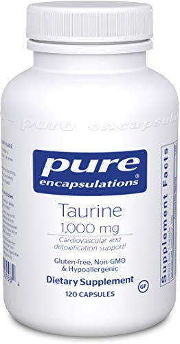 Pure Encapsulations - Taurine 1,000 mg - Hypoallergenic Supplement to Support Brain, Heart, Gallbladder, Eyes, and Vascular System - 120 Capsules