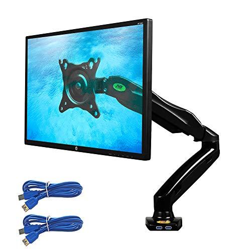 Soporte de Diseño Profesional para Monitores de PC LED LCD de 17'-27', Negro