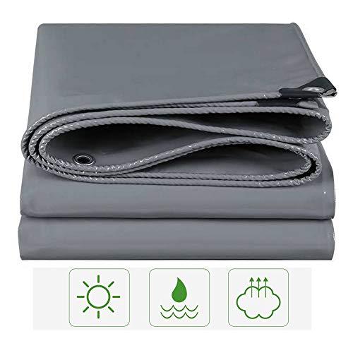 Lonas HUAHUA Lona Impermeable De PVC Engrosada, 550g / ㎡, 100% Protector Solar Y Tela De Sombra A Prueba De Viento, Utilizado para Toldos De Jardín De Camping Al Aire Libre,Gris,20 Tamaños