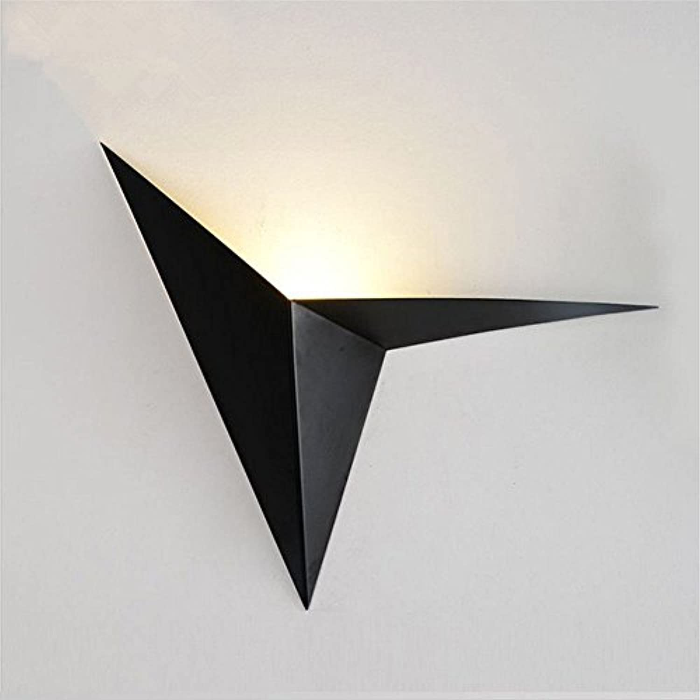 StiefelU LED Wandleuchte nach oben und unten Wandleuchten Dreieck Wandleuchten Hyun aus Bett im Wohnzimmer Schlafzimmer Flur Eisen kunst Glas an der vorderen Wand Licht, Schwarz