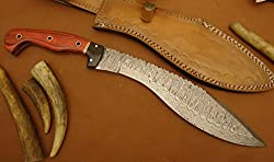 REG-0102, Custom Handmade Damascus Steel 14 Inches Kukri Knife