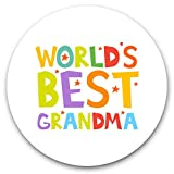 Impresionantes pegatinas de vinilo (juego de 2) 30 cm, diseño de la mejor abuela de la abuelita del mundo para portátiles, tabletas, equipaje, libros de recortes, neveras, regalo genial #46473