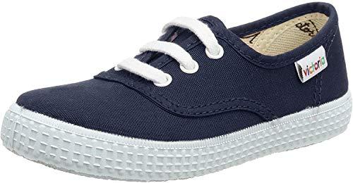 Victoria Inglesa Lona1, Zapatillas de Tela Unisex Niños, Azul (Navy), 32 EU