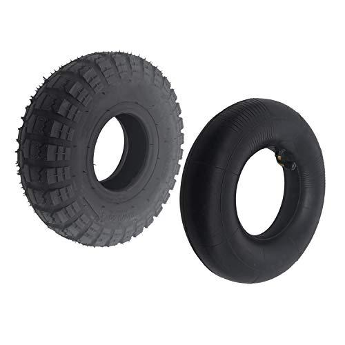 LQNB 4.10/3.50-4 410/350-4 ATV Quad Go Kart 47Cc 49Cc Chunky 4.10-4 Reifen Schlauch Passend für Alle Modelle 3.50-4 4 Zoll Reifen Innen Schlauch