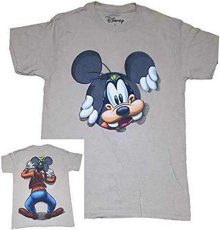 Goofy Peeking Adultos Fashion Parte Superior T Camisa – Caqui