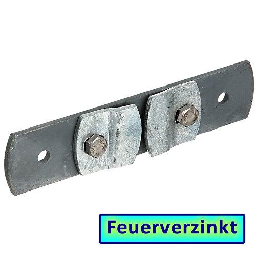 BAUER - FVZ Lasche 136x40mm mit Klemmbef. f. T-Zaunpfosten